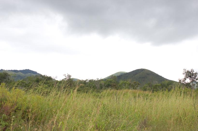 Landscape at Chyulu Hills.